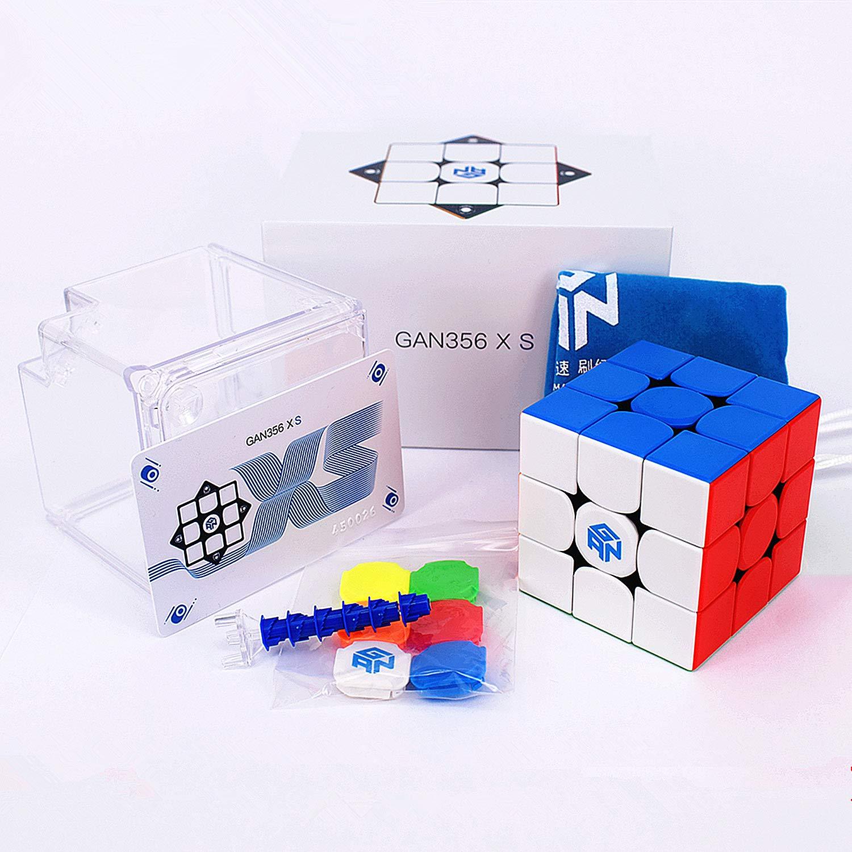 LiangCuber GAN 356 XS Magnetic 3x3 Speed Cube Stickerless GAN356 XS Puzzle Cube 3x3x3 Magic Cubes GAN356 X S