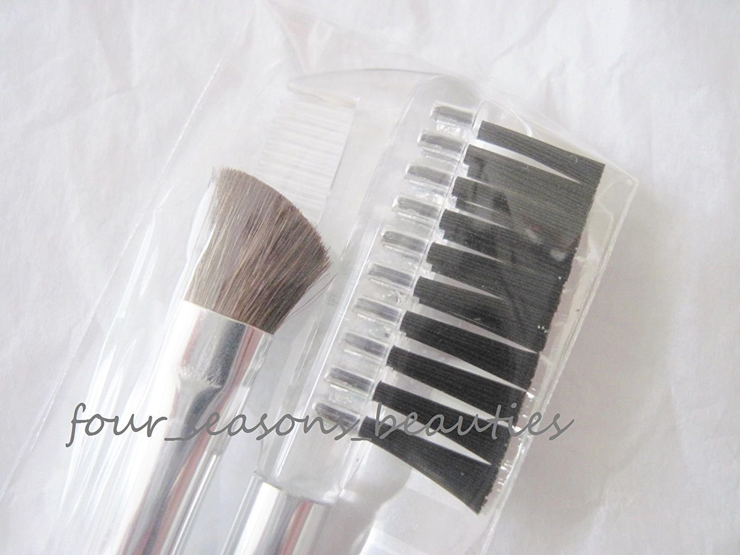NEW 2-piece Clinique Eye Shadow & Brow Clear Brush Set 6 Long