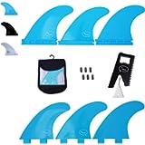 Ho Stevie! Fiberglass Reinforced Polymer Surfboard Fins - Thruster (3 Fins) FCS or Futures Sizes, with Fin Bag, Screws…