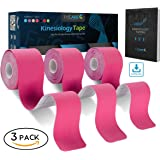 Uncut Pro Kinesiology Tape (Super Saver 3 Rolls Pack) by FriCARE, Waterproof Physio Therapeutic Sports Tape for Pain Relief, Muscle & Joint Support, 2 inch x 16 Feet, Free Ebook