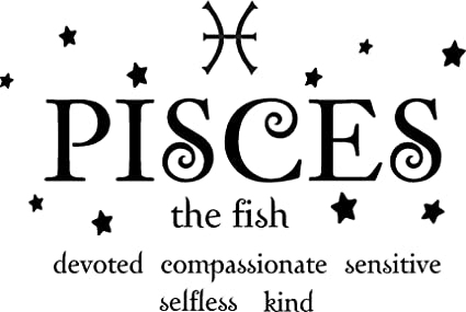 Pisces The Fish Horoscope Zodiac Vinyl Wall Art Decal Home Decor Sayings  Quotes