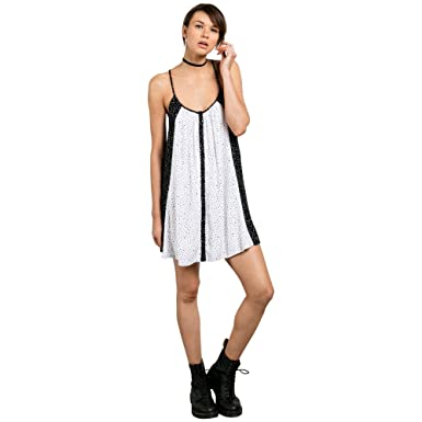 29d1e052eba Amazon.com  Volcom Women s Mix A Lot Cami Dress  Clothing