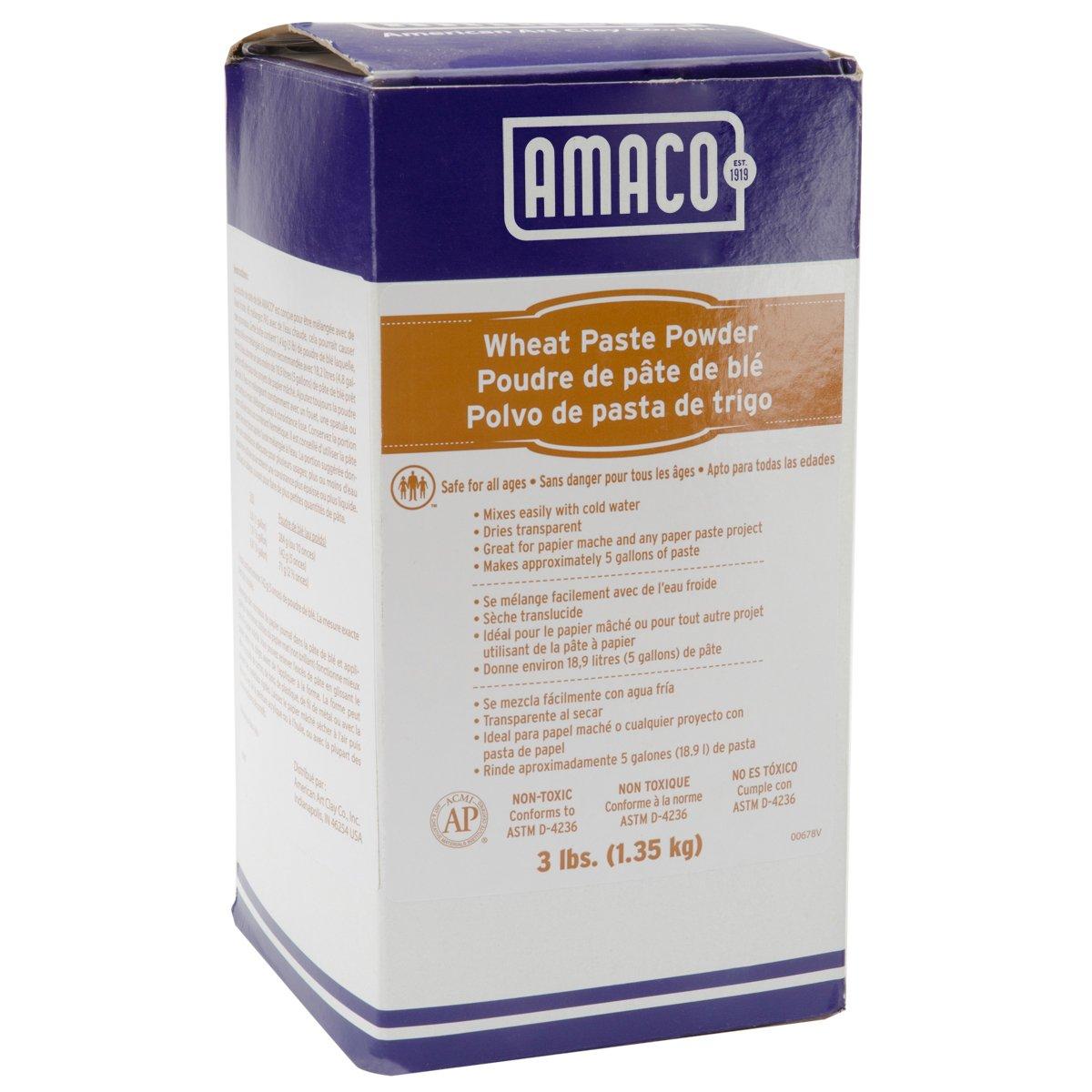 AMACO 41804E 3-Pound Wheat Paste Powder