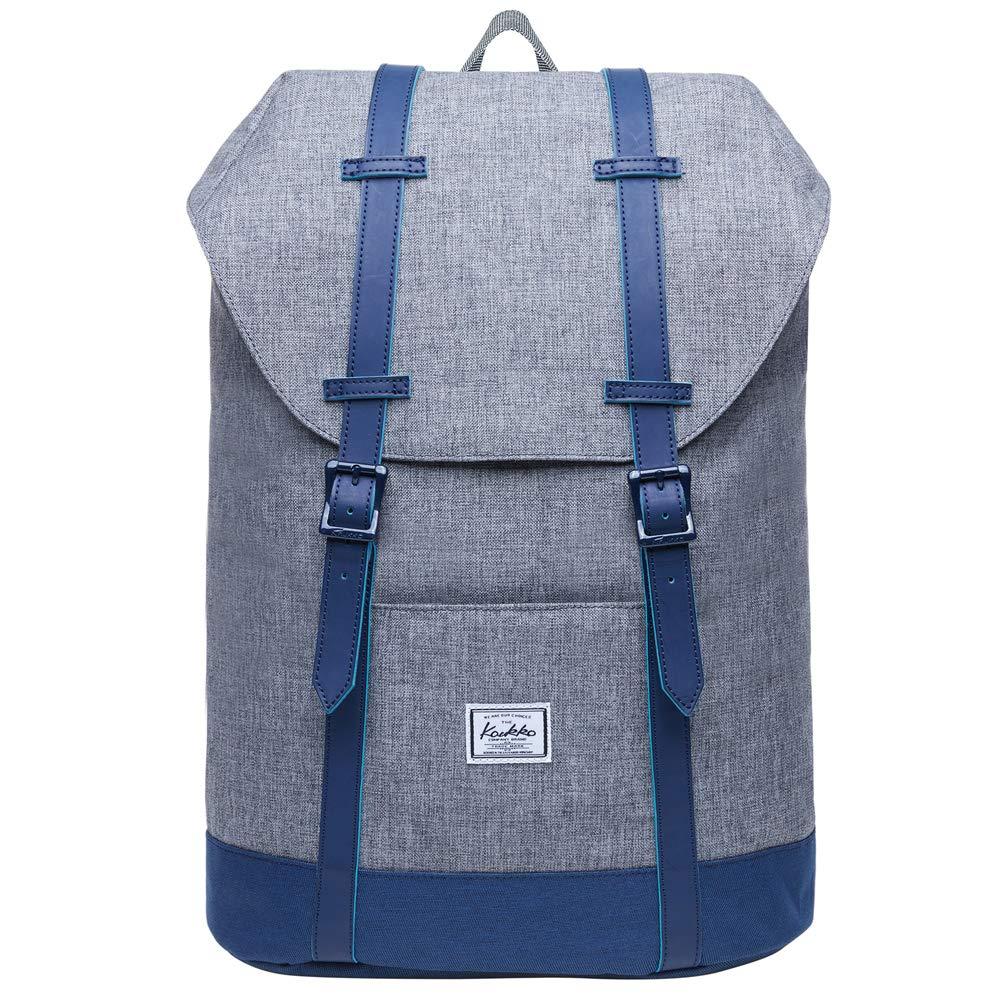 KAUKKO Rucksack Damen Herren Vintage Reiserucksack für 14  Notebook Lässiger Daypacks Schultaschen B07HRJ4T2S Ruckscke Gewinnen Sie das Lob der Kunden
