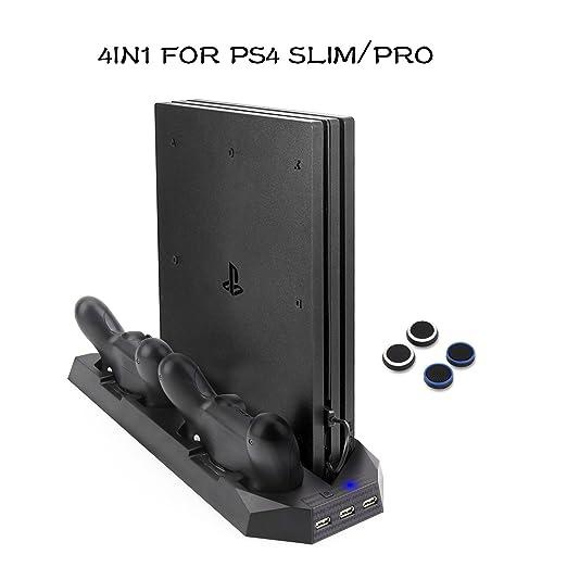 Soporte PS4 Slim / PS4 Pro Cargador de vertical con ...