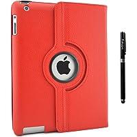inshang ipad Cover iPad Custodia per ipad 2/3/4, Rotazione a 360 gradi, Con Supporto Funzione, Con Auto Sveglia/Sonno pennino