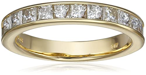 14k Gold Princess-Cut Diamond Anniversary Band (1 cttw, H-I Color, I1-I2 Clarity)