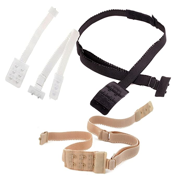 BACKLESS BRA STRAP LOW BACK BRA STRAP EXTENDER CONVERTER - Chose your  colour WHITE - BLACK 0c877cf66