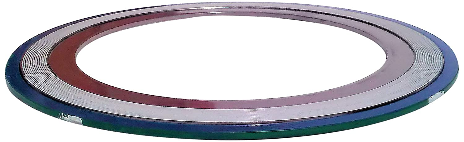 Teadit 9000IR.500316PTFE1500 Green Band with White Stripe 316SS//PTFE Spiral Wound Gasket with 316SS Inner Ring -150 to 500 degrees F Temperature Range for 1//2 Pipe Size Inc 2.50 OD 0.56 ID Sur-Seal