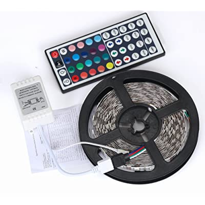 WarmBay 5M 3528 300 Lights RGB LED Strip SMD, Non-Waterproof Lights String Tape with 44-Key IR Remote Controller,Not Include Battery and Power Supply (1PC): Toys & Games