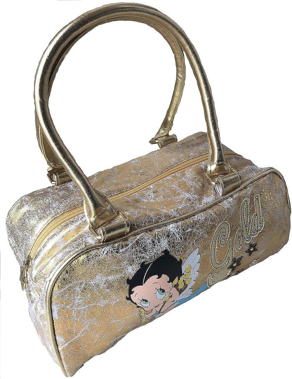 Betty Boop Bolso al hombro de Material Sint/ético para mujer dorado dorado