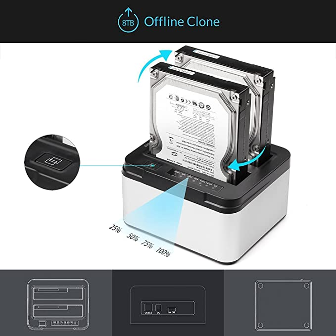 Amazon.com: Salcar Dual HDD estación de acoplamiento ...
