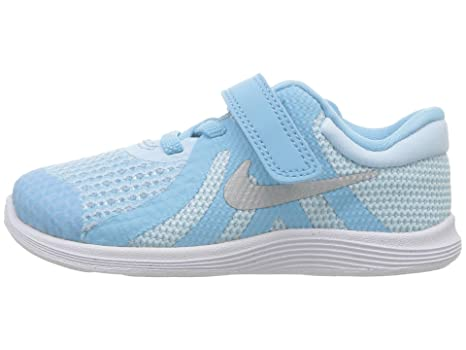 free shipping 6fdc9 2f5a4 NIKE Toddler Revolution 4 (TDV) Cobalt Tint Mtllc Silver Blue Size 8   Amazon.in  Baby