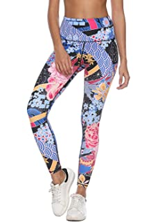 ca561b48e7 Mint Lilac Women s High Waist Printed Yoga Pants Full-Length Tummy Control  Workout Leggings