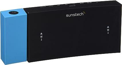 Sunstech FRDP3 - Radio despertador con proyector horario (USB de carga, función sleep y alarma dual), color azul