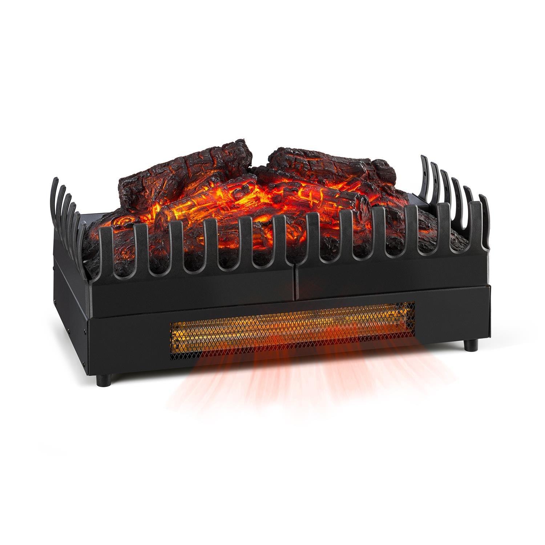Klarstein Kamini FX Elektrischer Kamin Elektrokamin Kamineinsatz Flammeneffekt stimmungsvolle Beleuchtung und/oder Wärmequelle 1000/2000 Watt Heizfunktion 2 Watt LED sauber schwarz