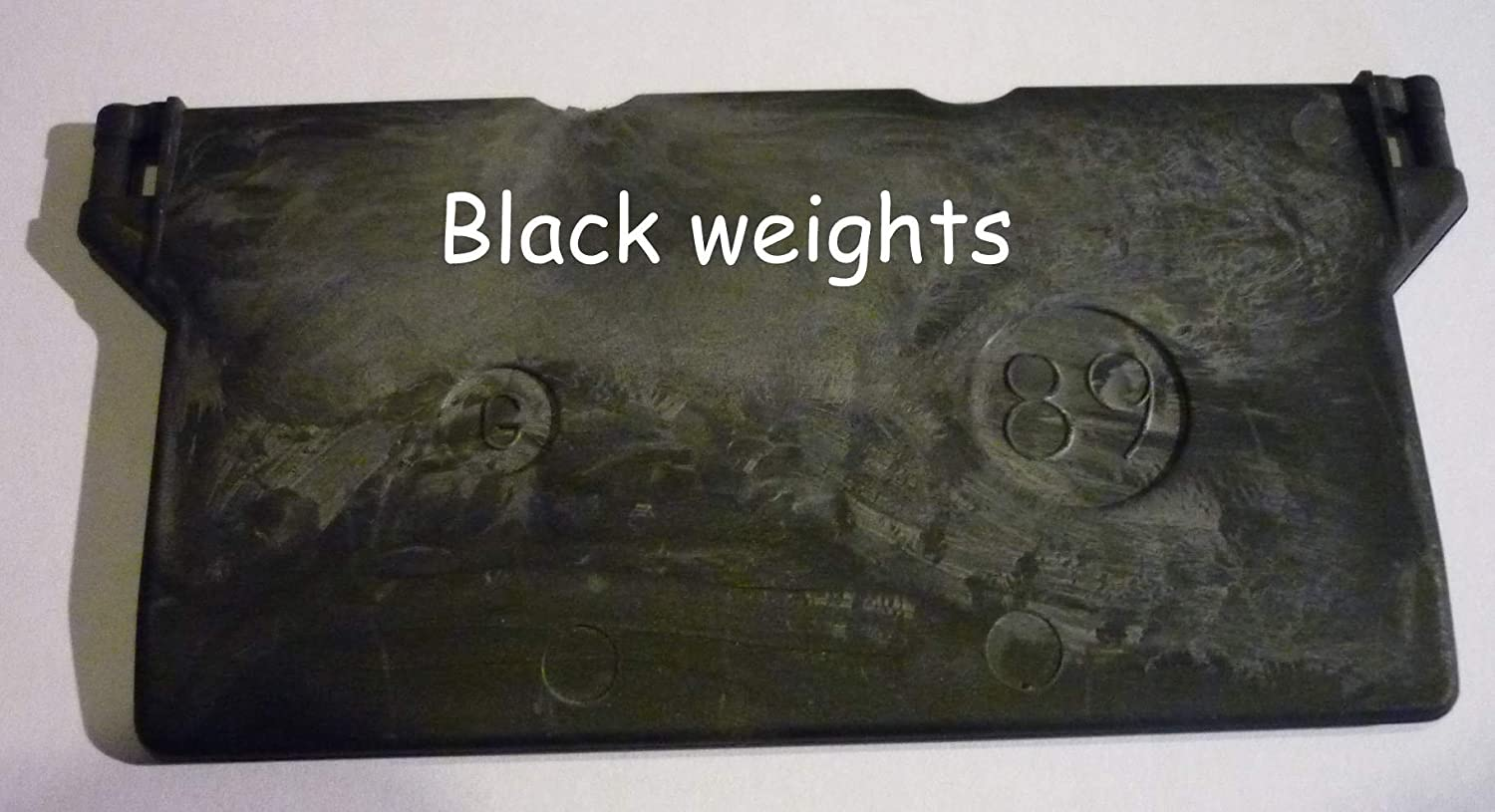 BLACK bottom weights to fit 89mm/3.5
