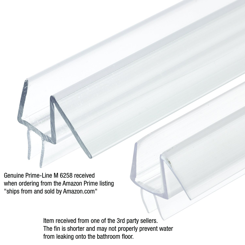 Prime Line M 6258 Frameless Shower Door Bottom Seal Stop Shower