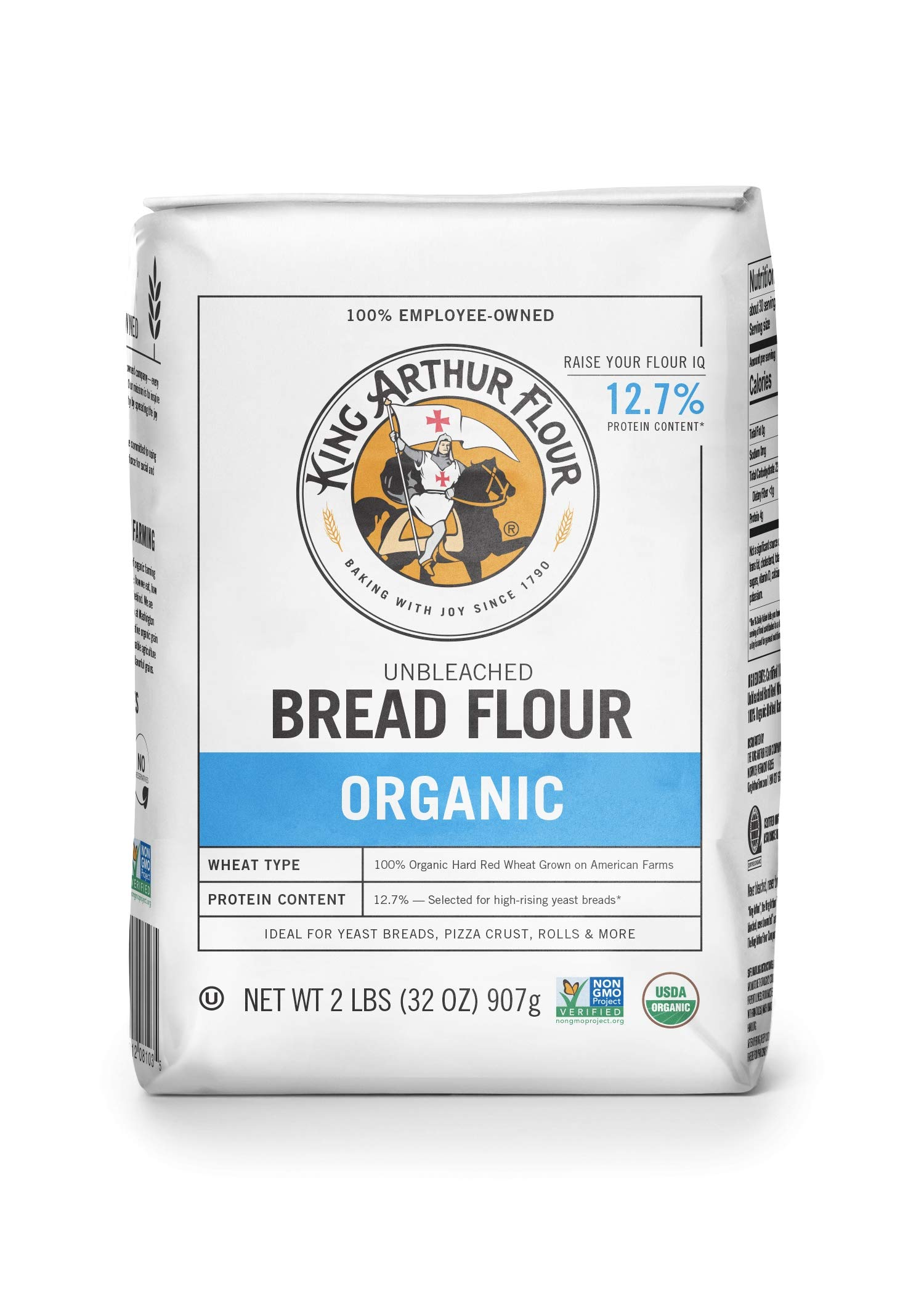 King Arthur Flour, 100% Organic Bread Flour, 2 Pound (Pack of 12) by King Arthur Flour