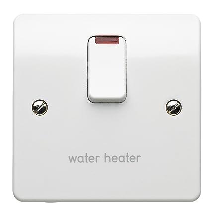 mk k5423whwhi 20 amp double-pole switch marked water heater: amazon co uk:  diy & tools