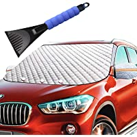$21 » Car Windshield Snow Ice Winter Cover 62X49 Extra Large with 4 Layers Full Wiper Protector…