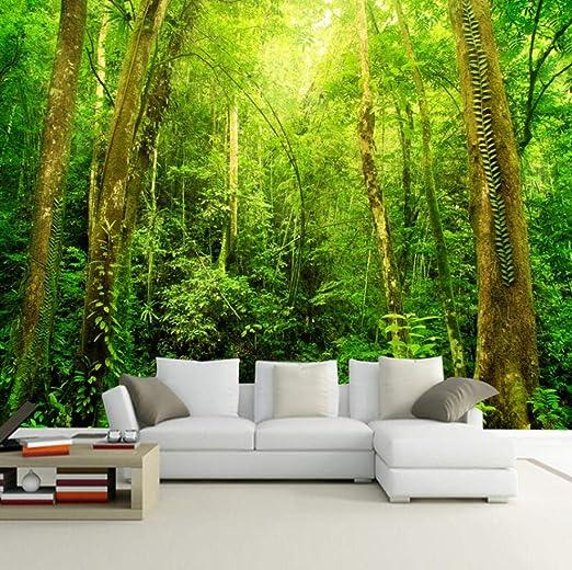 Papel Pintado Fotomural Aventura en la jungla Fondo de ...