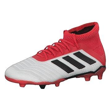 adidas Unisex-Kinder Predator 18.1 FG Fußballschuhe, Weiß (Ftwwht/Cblack/ Reacor