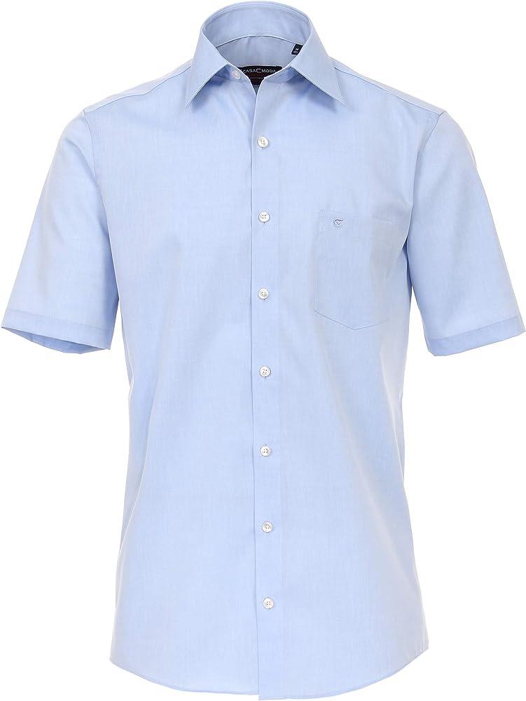 CASAMODA uninah 008070 - Camisa de media manga para hombre azul azur 41: Amazon.es: Ropa y accesorios