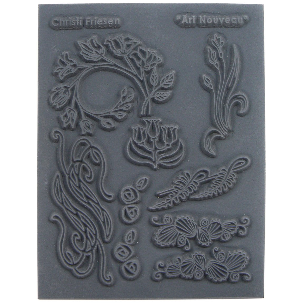 Great Create 5.5-Inch by 4.5-Inch Christi Friesen Texture Stamp 4.25x5.5, Art Nouveau CF6-651