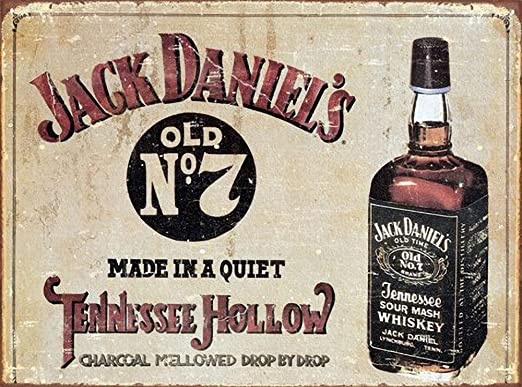 WallAdorn Jack Daniels Cartel de Hierro Pintura Cartel de ...