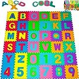 Alfombra Puzzle de 36 Piezas/ esteras para niños, bebes | 3,68m² | Alfombrilla de juego infantil | Gomaespuma EVA | Resistente a la humedad | Lavable | Colores resistentes | 86 Piezas individuales |