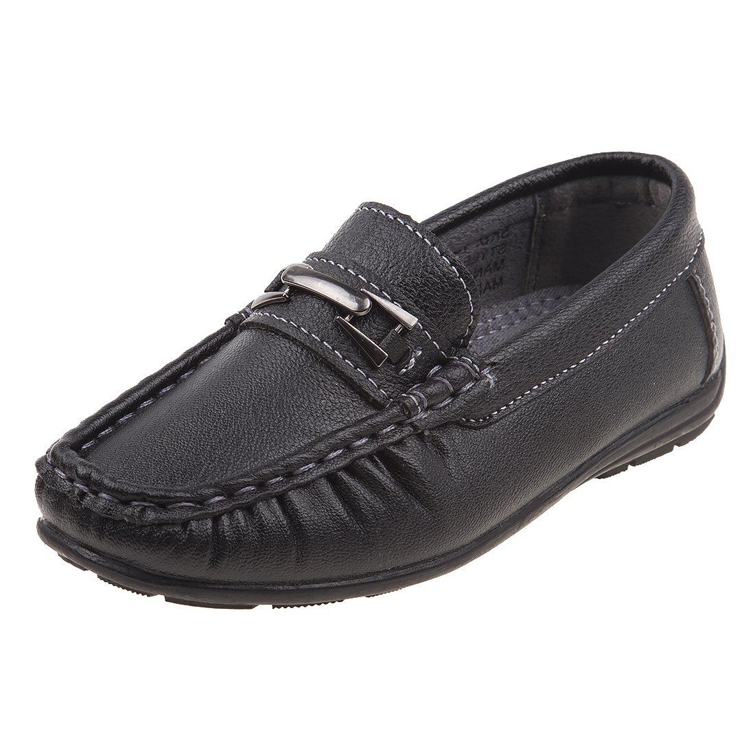 Josmo Boys Casual Driving Slip-on Shoe (Toddler, Little Kid, Big Kid), Black, Size 5 US Big Kid
