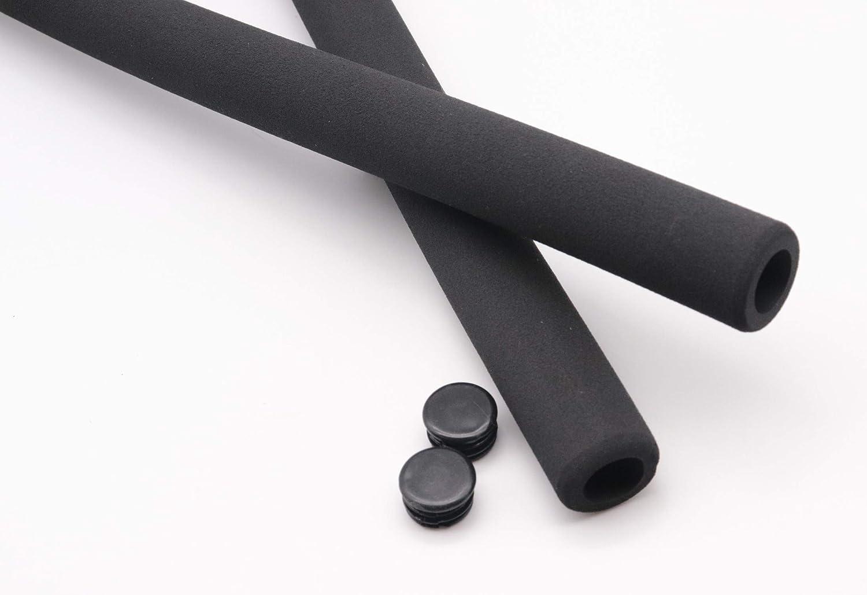 mit Stopfen Fahrrad Lenkerüberzug Moosgummi schwarz 400 mm high density