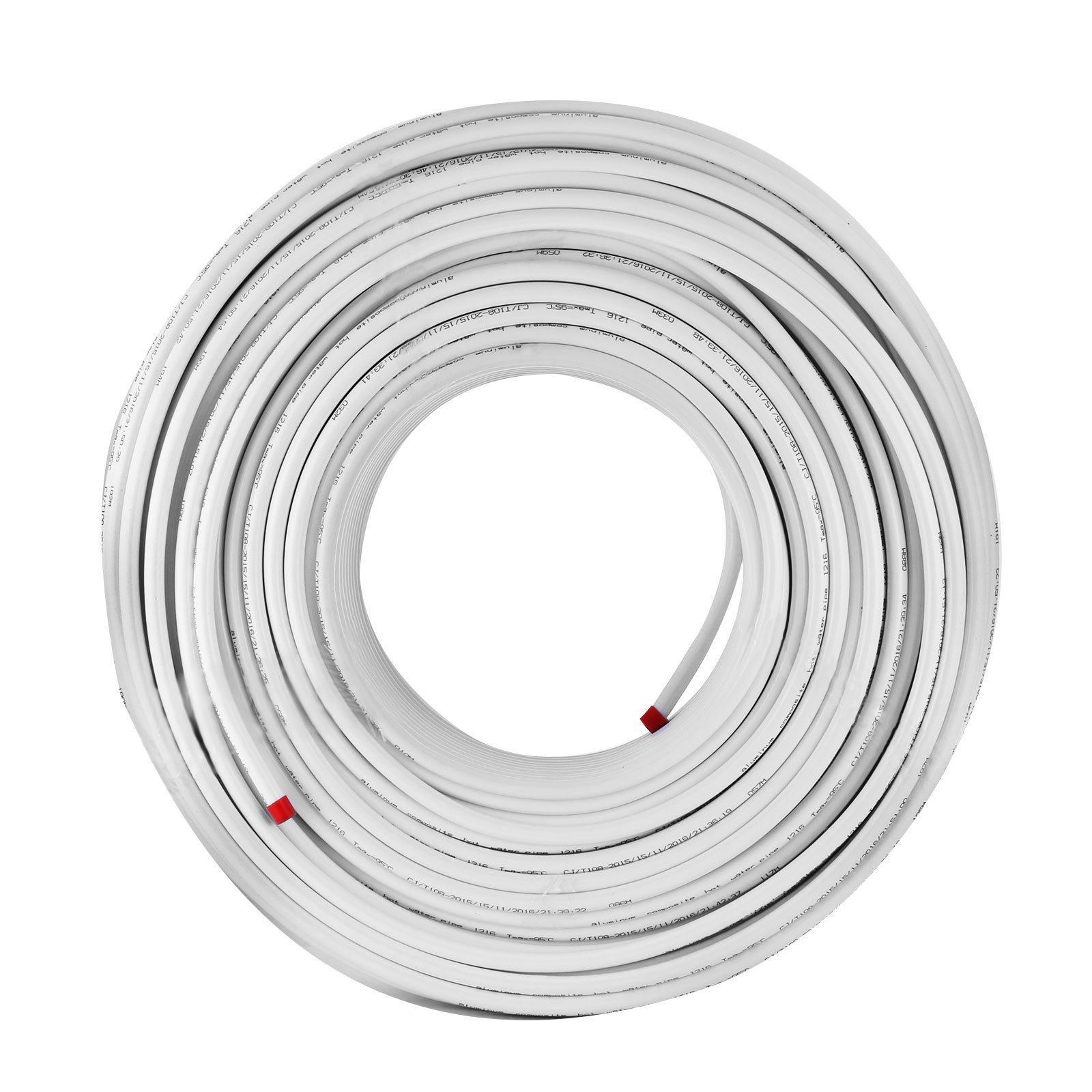 Mophorn PEX AL PEX Tubing 1/2 Inch Roll of 656 Ft 200 M Radiant Heat Tubing Nontoxic for Heating and Plumbing Hot and Cold Water Piping Radiant Floor PEX Al Tubing White by Mophorn (Image #3)
