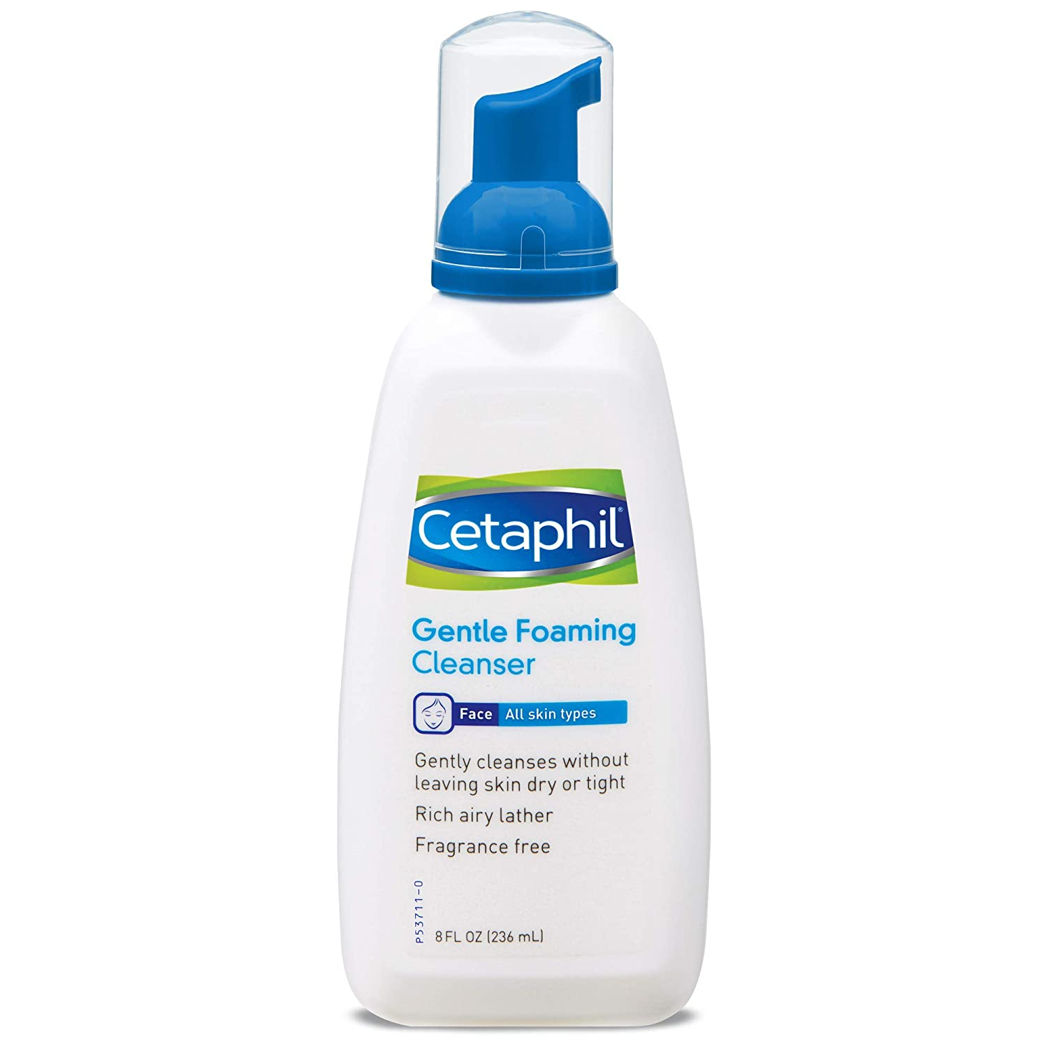 Gentle Foaming Cleanser (Pack of 2) - Gently Cleanses without Leaving Skin Dry or Tight - Rich Airy Lather - For All Skin Types - Fragrance Free & Suitable For Sensitive Skin 8oz