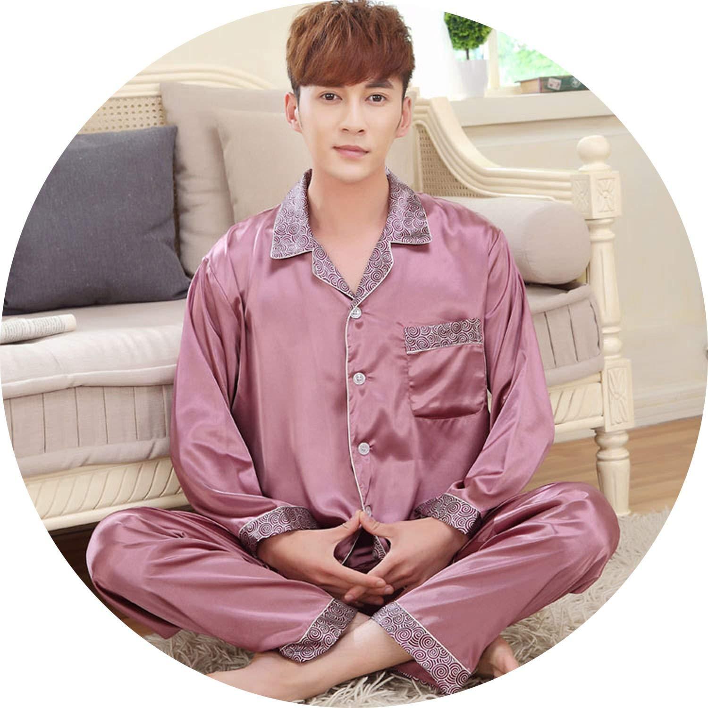color20 JIESENGTOO 2019 New Luxurious Silk Satin Couple Pajamas Set Long Sleeve Trousers Sleepwear Women Mens Silk