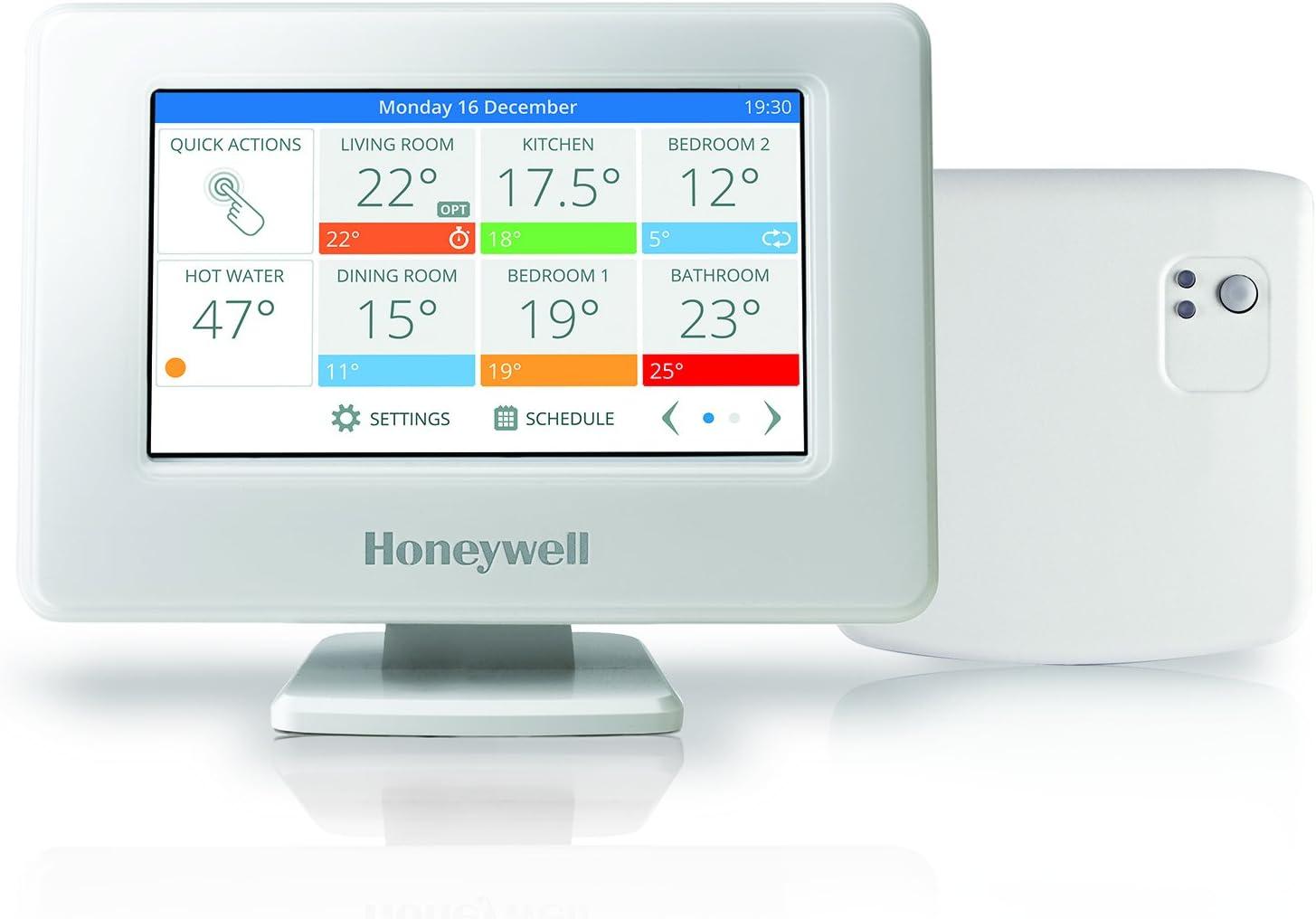 Honeywell Home THR99C3110 Kit de termostato Inteligente evohome WiFi y módulo relé de Caldera, Ahorra energía y Dinero, Blanco (2 Piezas): Honeywell: Amazon.es: Bricolaje y herramientas