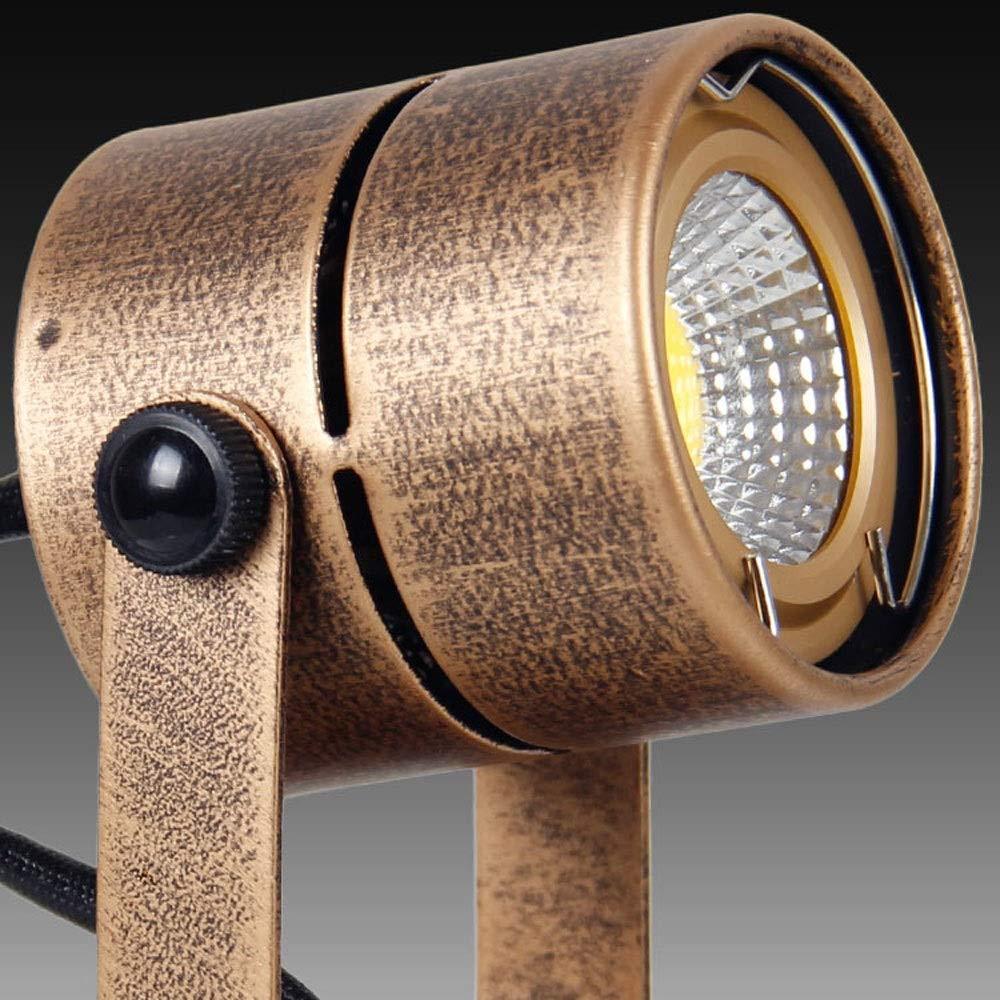 Fofofs Vintage Bronze Color LED Spotlights Single Head Ceiling Wall Spot Light Adjustable Arm Corridor Wall Lamp COB Chip for Bar Clothing Shop Bedroom Bedside Lights 3w5w7w White Light Warm Light
