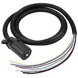 Qiilu 7 Way Trailer Plug Cable Cord Wire Harness