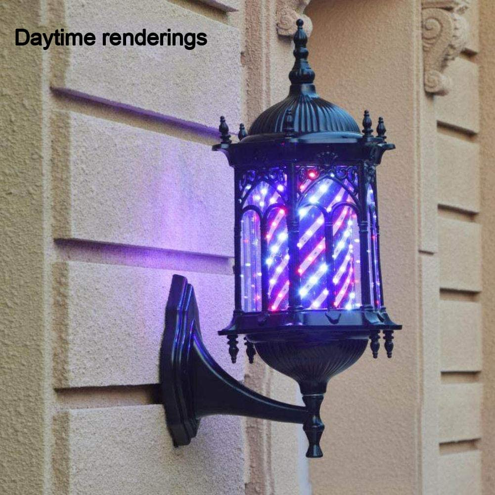 LED Barber Pole Retro Light Red White Blue Rotating Rayas ...