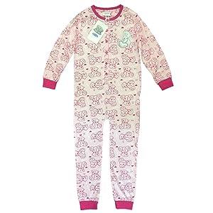 Girls Tatty Teddy 1onesie Pink Tatty Ted Pyjamas Sleepsuit 5-6 Years Genuine NEW