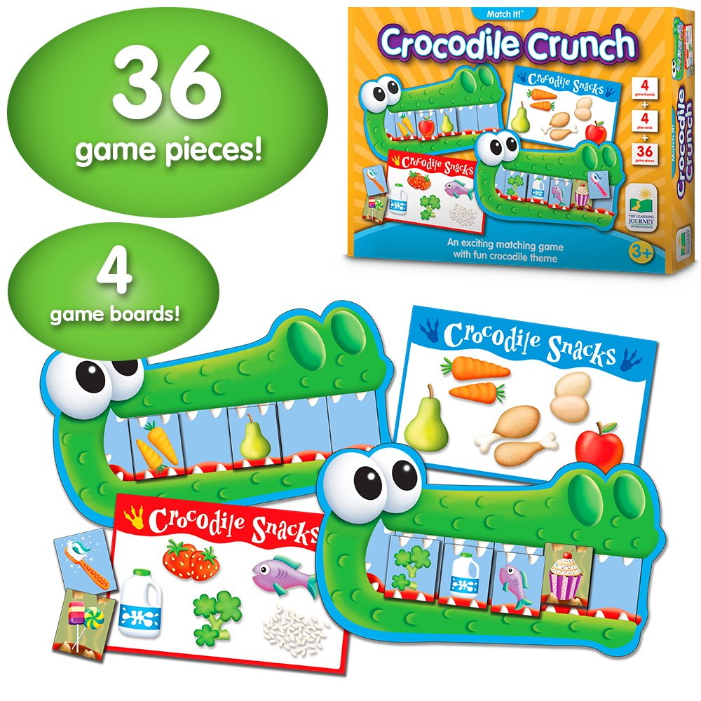 The Learning Journey - Match It Game Crocodile Crunch by The Learning Journey - (Image #2)