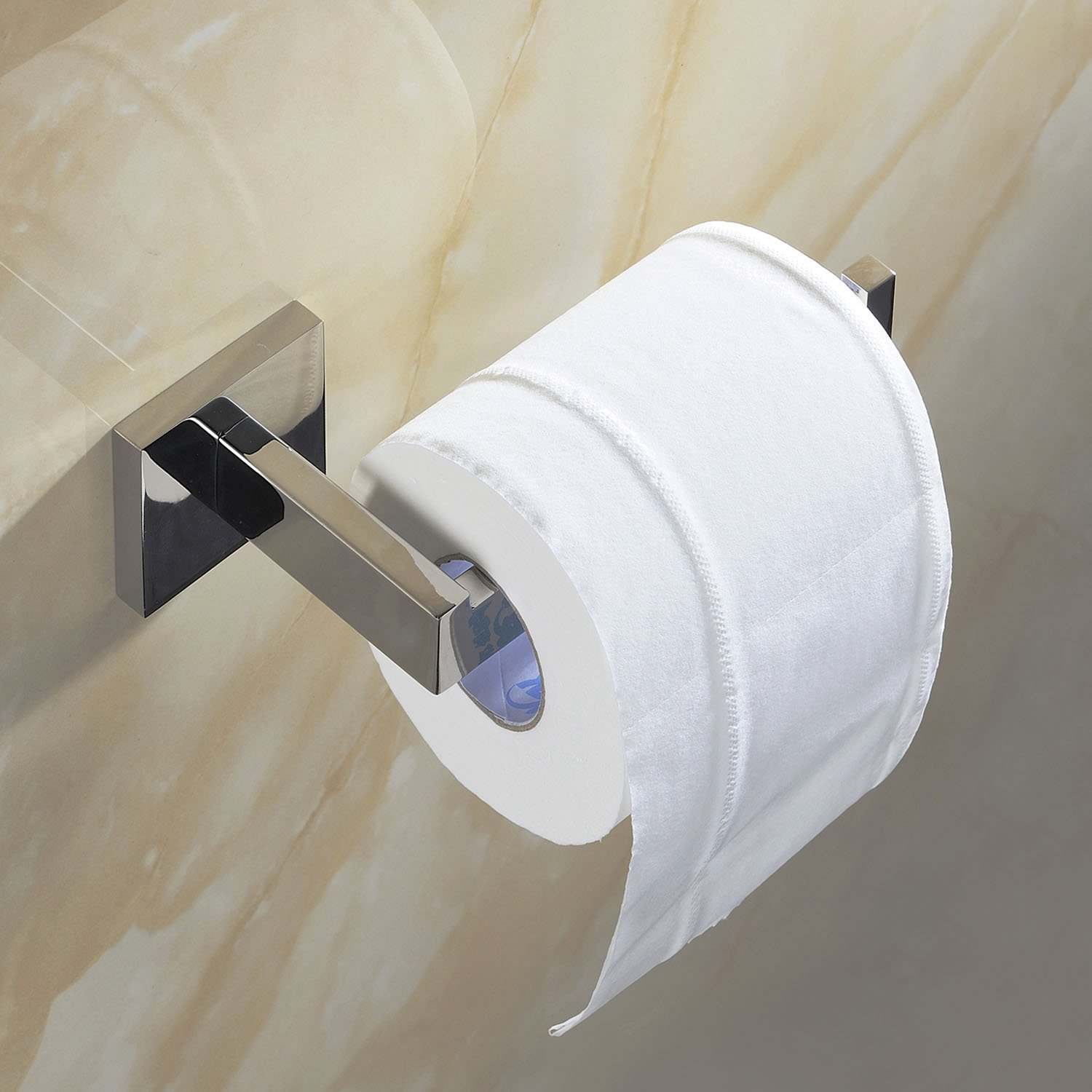 Amazon.com: Luxury 304 Stainless Steel Chrome Finished Toilet Paper ...