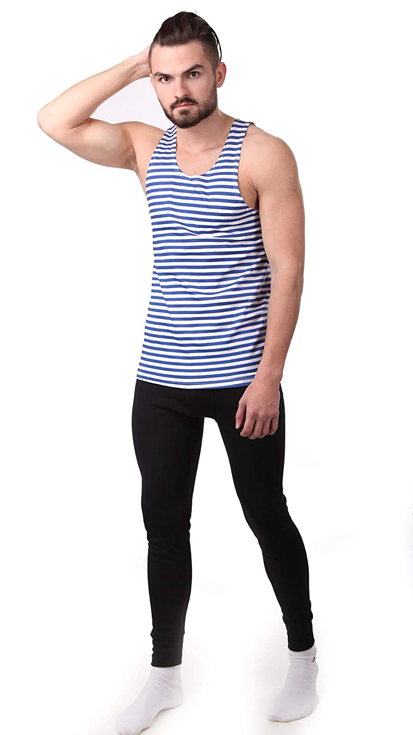 74cebf91697dc7 Svitanak Russian USSR Soviet Military Army T-Shirt Tank TOP Vest Blue White  Sailor s Striped Vest at Amazon Men s Clothing store