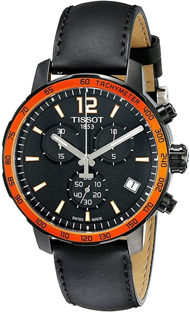 Tissot Reloj Cronógrafo para Hombre de Cuarzo con Correa en Cuero T095.417.36.057.01