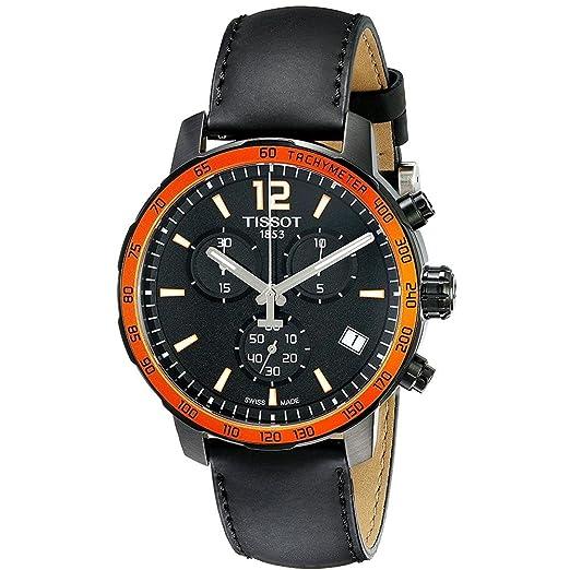 Tissot Reloj Cronógrafo para Hombre de Cuarzo con Correa en Cuero T095.417.36.057.01: Amazon.es: Relojes