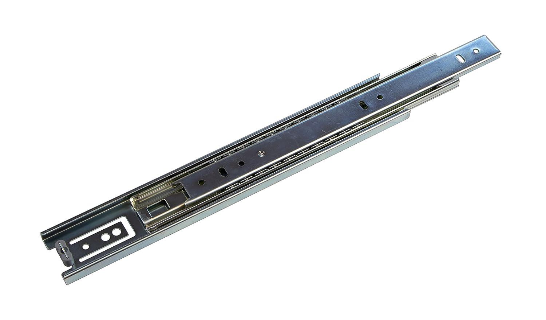 Teleskopauszug kugelgelagert KTS Stahl verzinkt Schubladenschiene Schrank-Kugelauszug Teleskop-Schiene Schubladen Vollauszug 550 mm 1 Paar Ausz/üge f/ür K/üchenschr/änke Tragkraft 30 kg