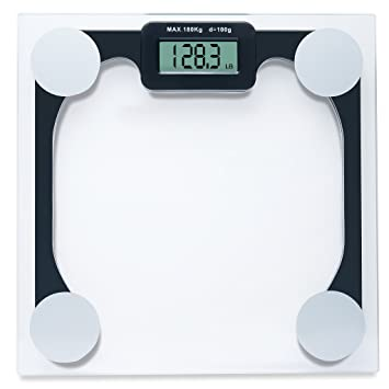 Weighing Scale   Modern Digital Scale High Quality Bathroom Scales 400 Lb.  Capacity Weight Scale