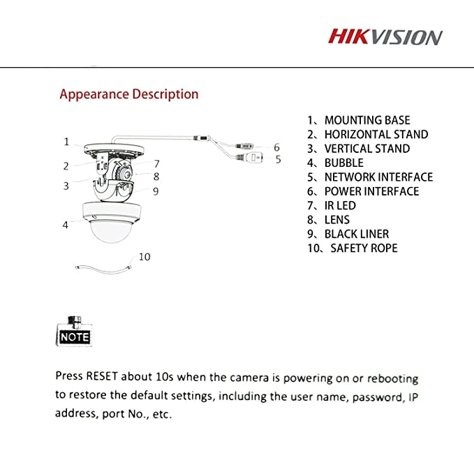 Amazon com : Hikvision IP Camera 4MP DS-2CD2142FWD-I WDR HD Dome