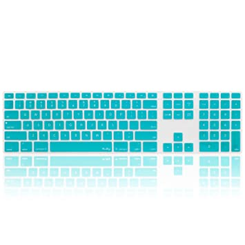 0a192823b84 Kuzy - Full Size Teal Keyboard Cover Skin Silicone for Apple Keyboard with Numeric  Keypad Wired USB for iMac - Teal: Amazon.ca: Computers & Tablets